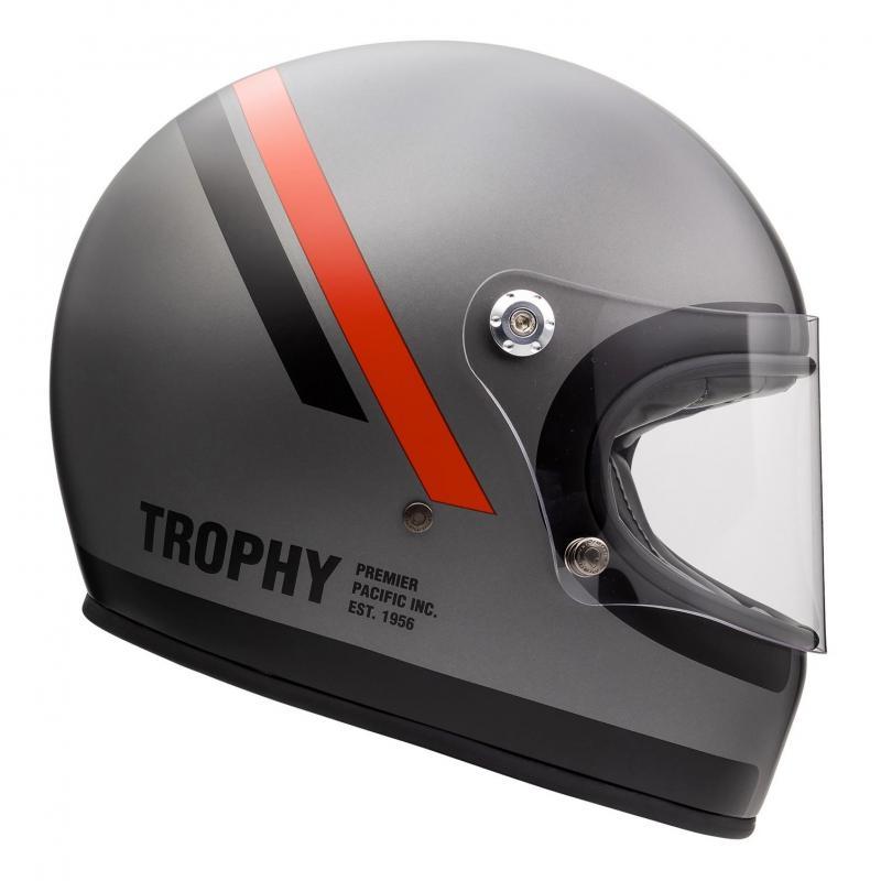 Casque intégral Premier Trophy DO17 BM gris/rouge/noir - 2