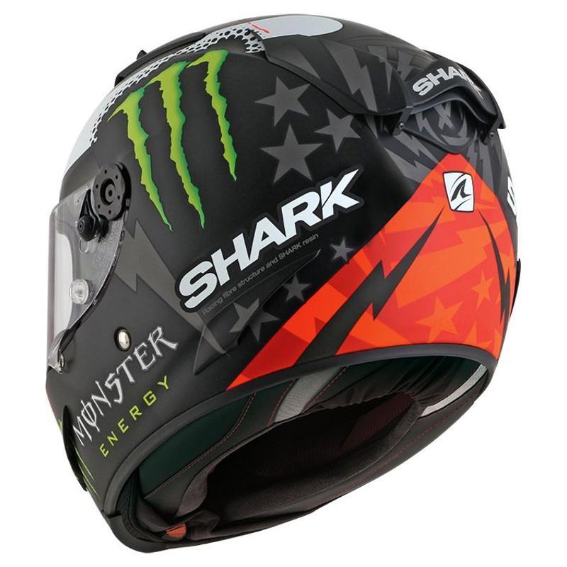 Casque intégral Shark RACE-R LORENZO MONSTER MAT noir/rouge/blanc - 1