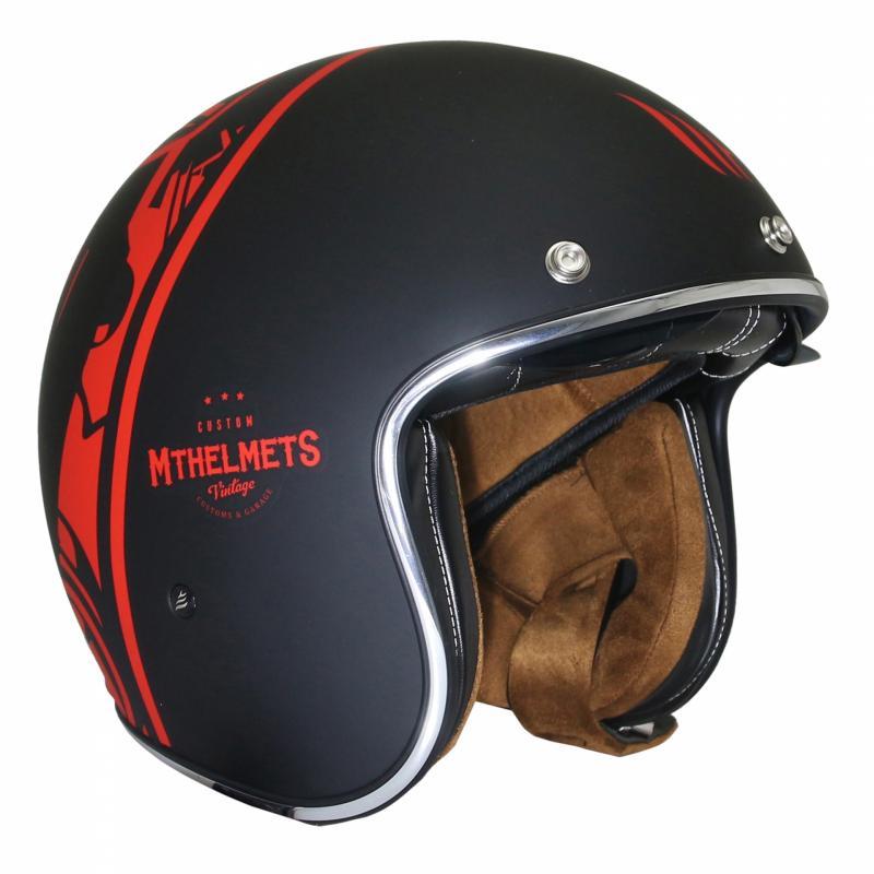 Casque jet MT Helmets Le Mans 2 SV Divenire noir / rouge - 2