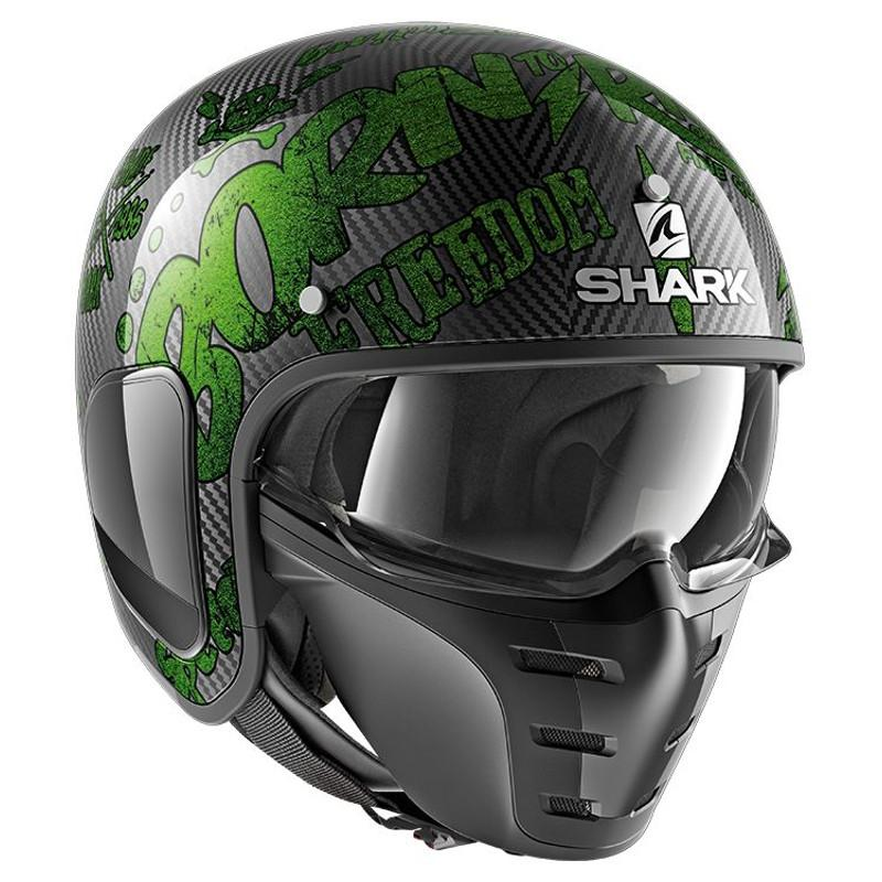 Casque jet Shark S-DRAK FREESTYLE CUP carbone/vert - 3