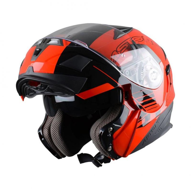 Casque Modulable Astone Rt 1000 Graphic Exclusive Arko noir/rouge - 1