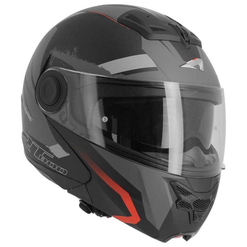 Casque modulable Astone RT800 exclusive ENERGY mat noir/rouge - 6