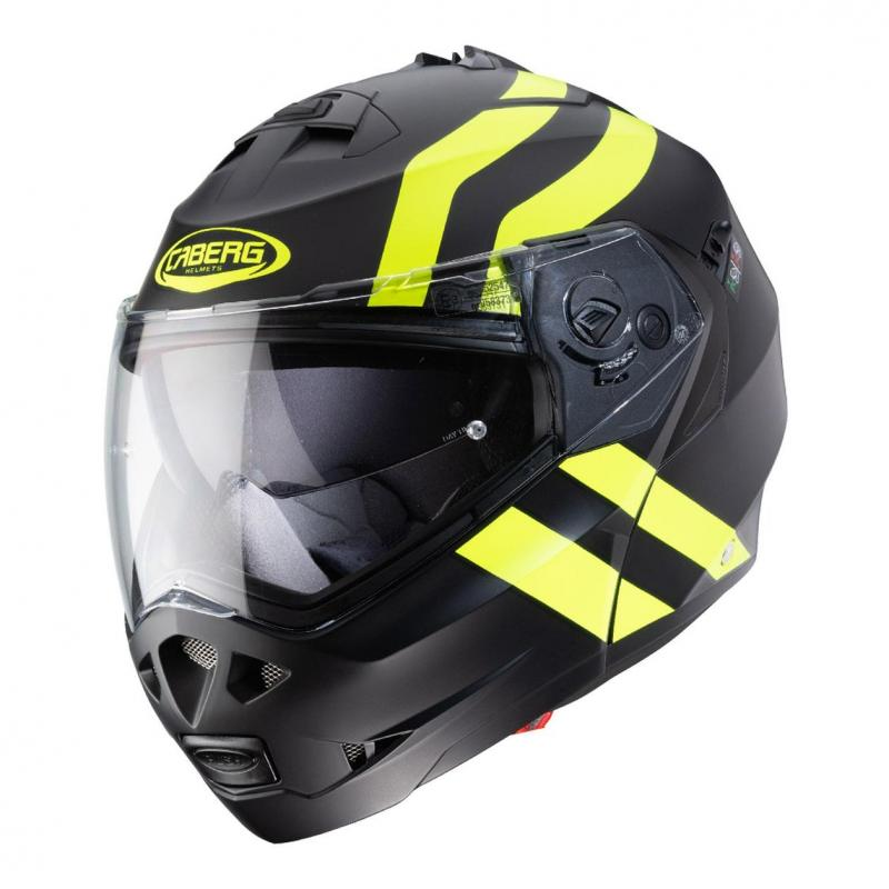 Casque modulable Caberg Duke II Superlegend noir/jaune fluo