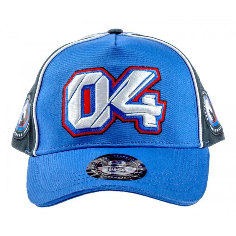 Casquette Baseball Andrea Dovizioso 04 gris/bleu - 1