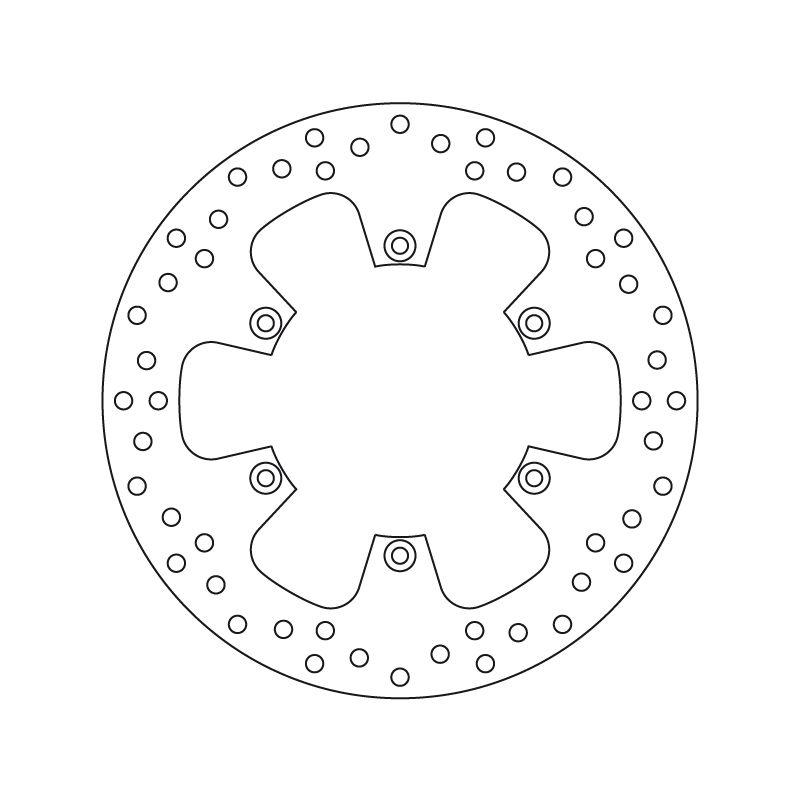 Disque de frein arrière Brembo Serie ORO rond fixe 68B407F0
