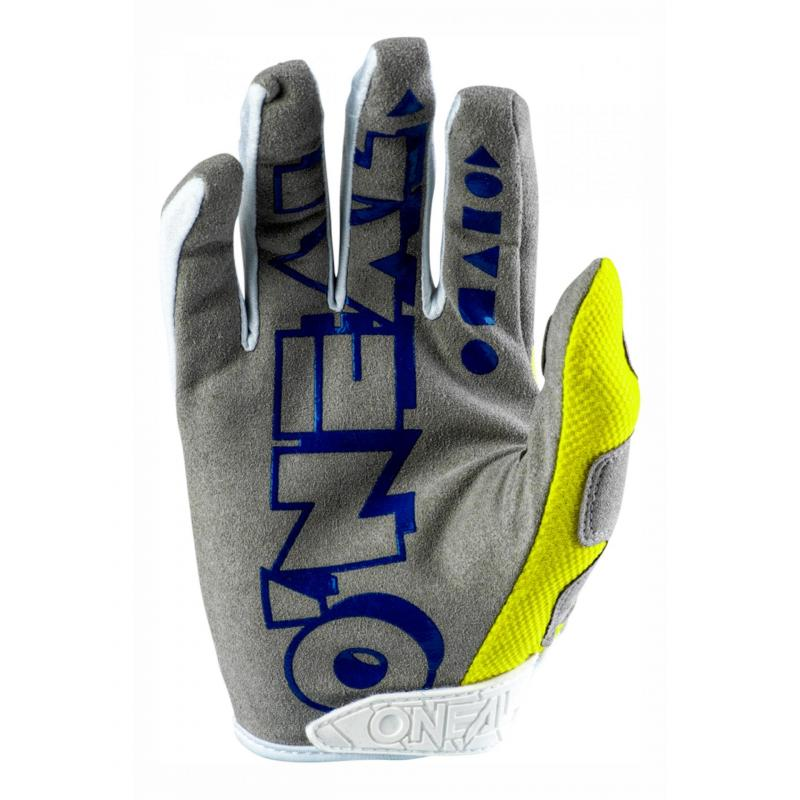 Gants cross O'Neal Mayhem Crackle 91 jaune/blanc/bleu - 1