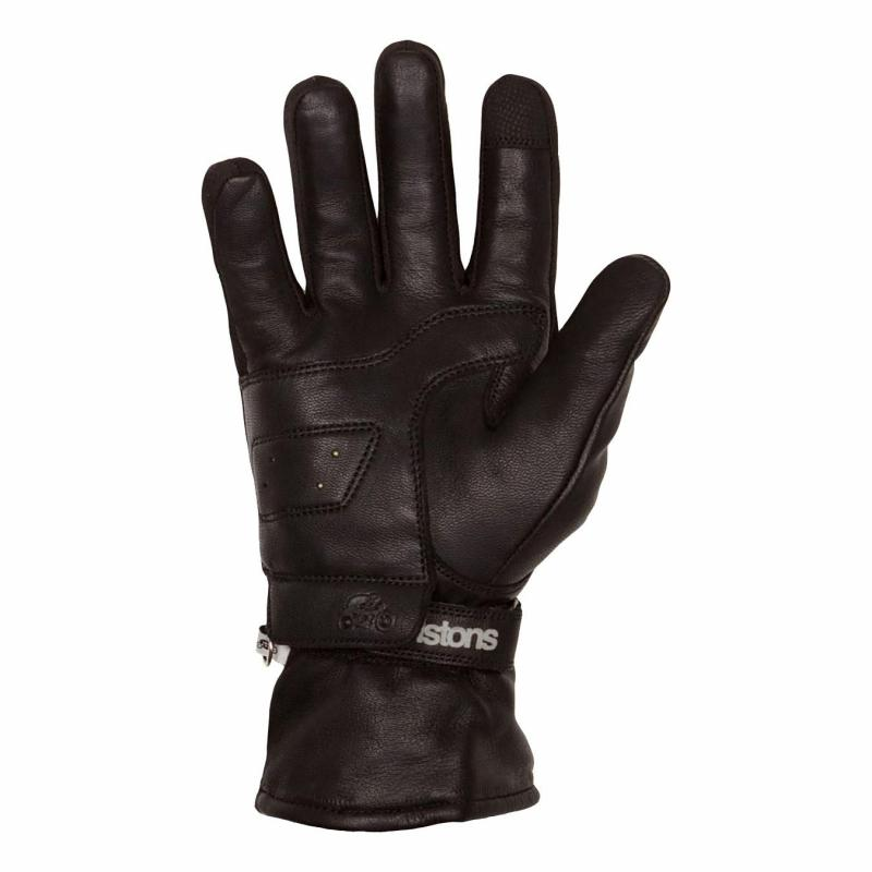 Gants cuir/textile Helstons Curtis noir - 1