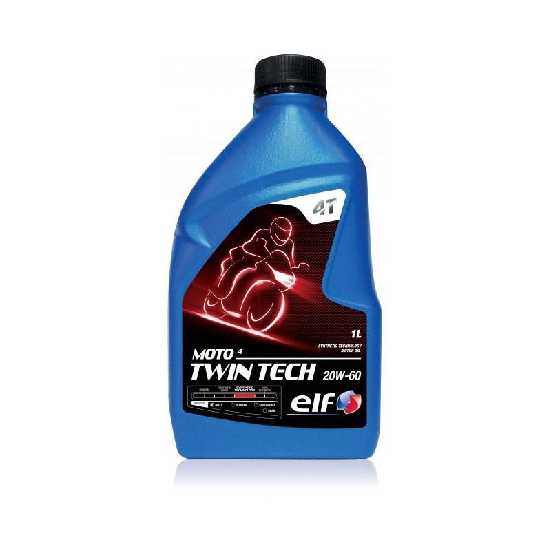 Huile moteur 4T ELF Moto 4 TwinTech Technologie Synthèse 20W60