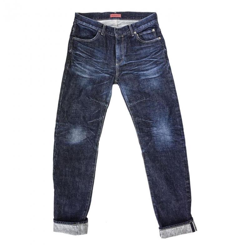 Jeans moto Helstons Arakawa Shinichiro Brut bleu Used bleu