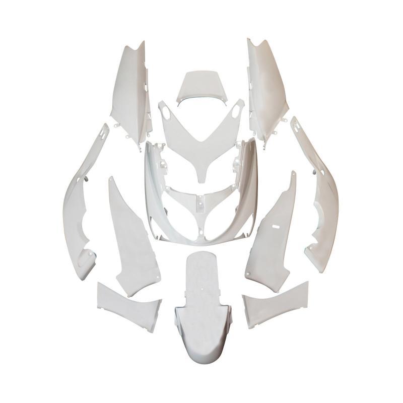 Kit carrosserie 12 pièces blanc brillant adaptable T-max 500 2004>2007