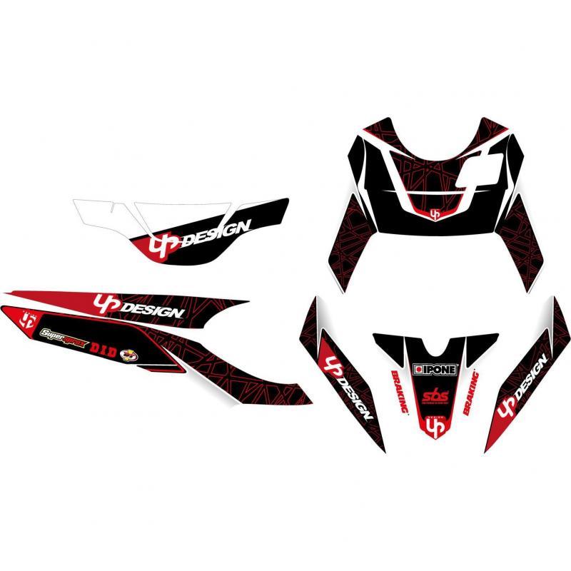 Kit déco Up Draft noir et rouge Yamaha BW's 50 03-16 - 1