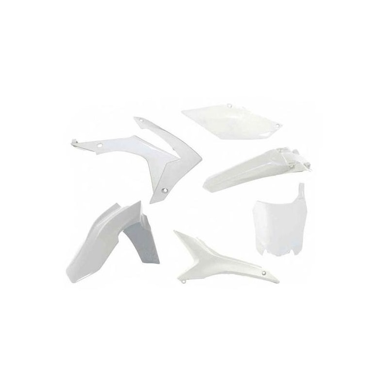 Kit plastique RTech Honda CRF 250R 14-17 blanc