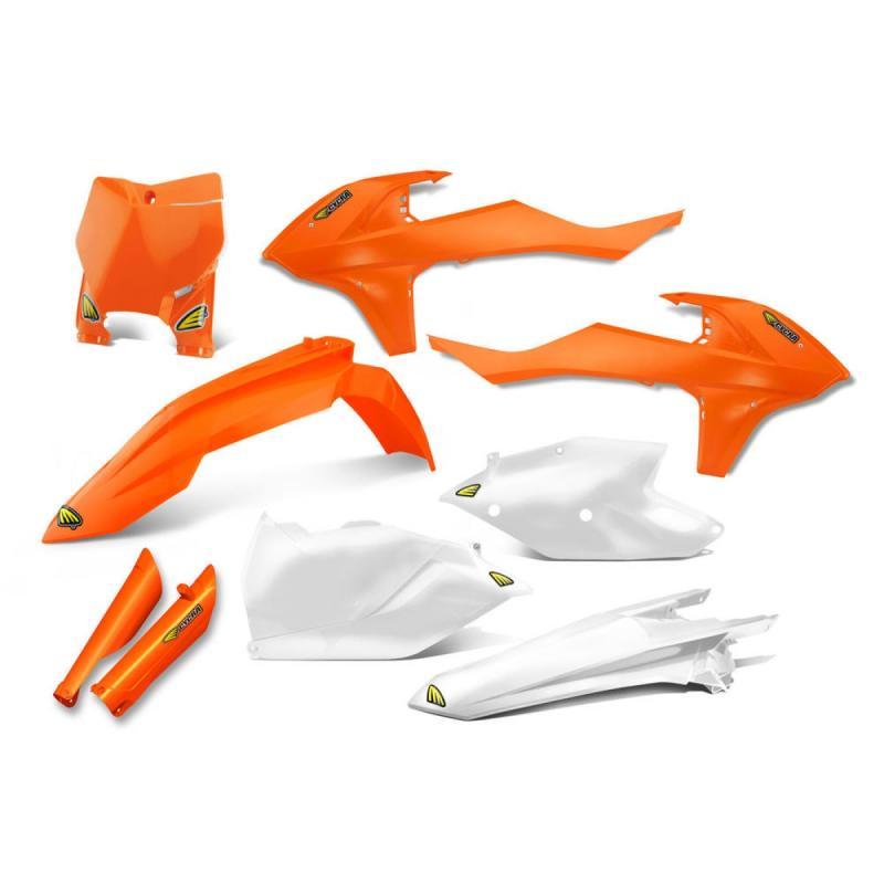 Kit plastiques Cycra KTM 125 SX 16-18 orange fluo/blanc