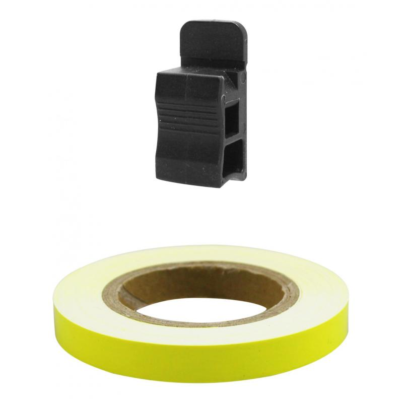 Liseret de jante Tun'R 7mm x 6m jaune fluo avec applicateur - 2