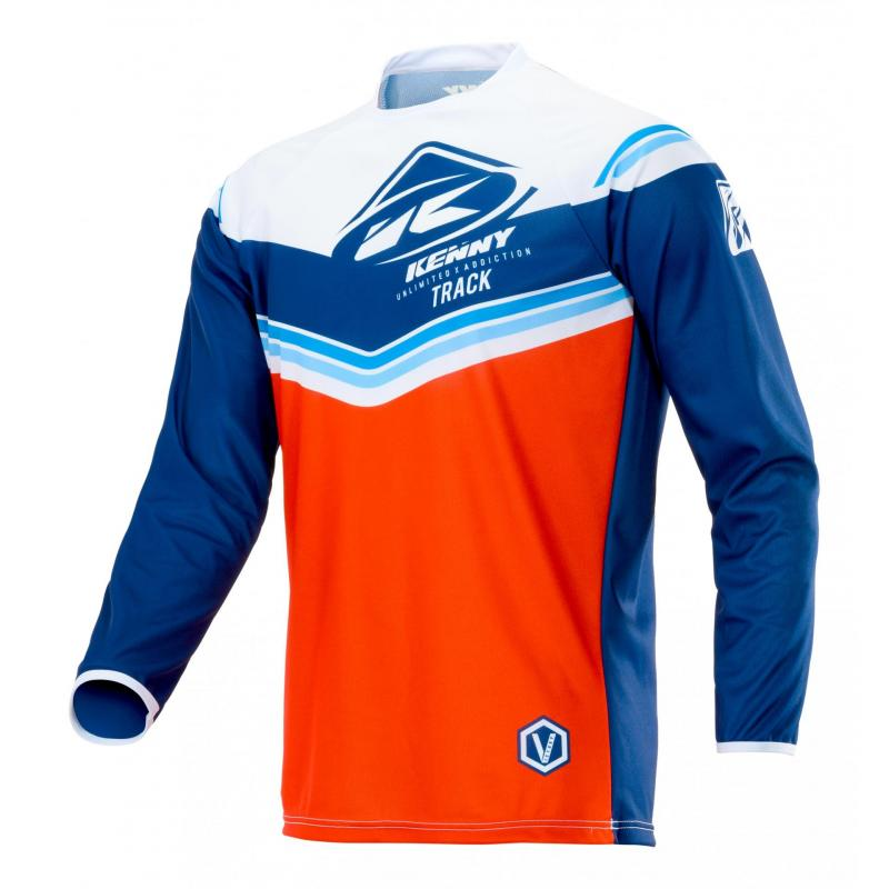 Maillot cross enfant Kenny Track Kid Victory rouge/navy