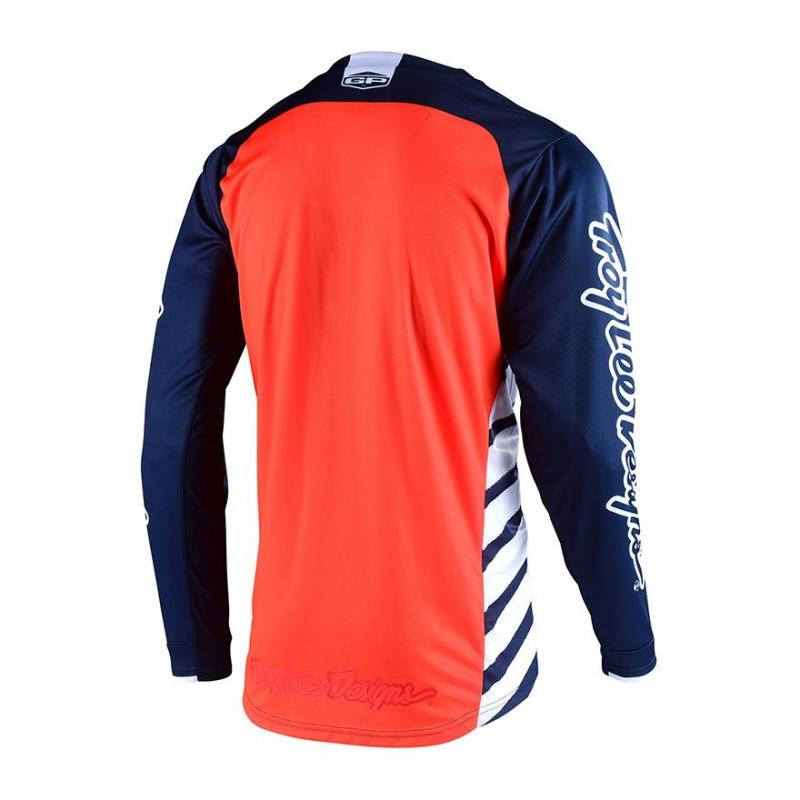 Maillot cross Troy Lee Designs GP Drift bleu/orange - 1