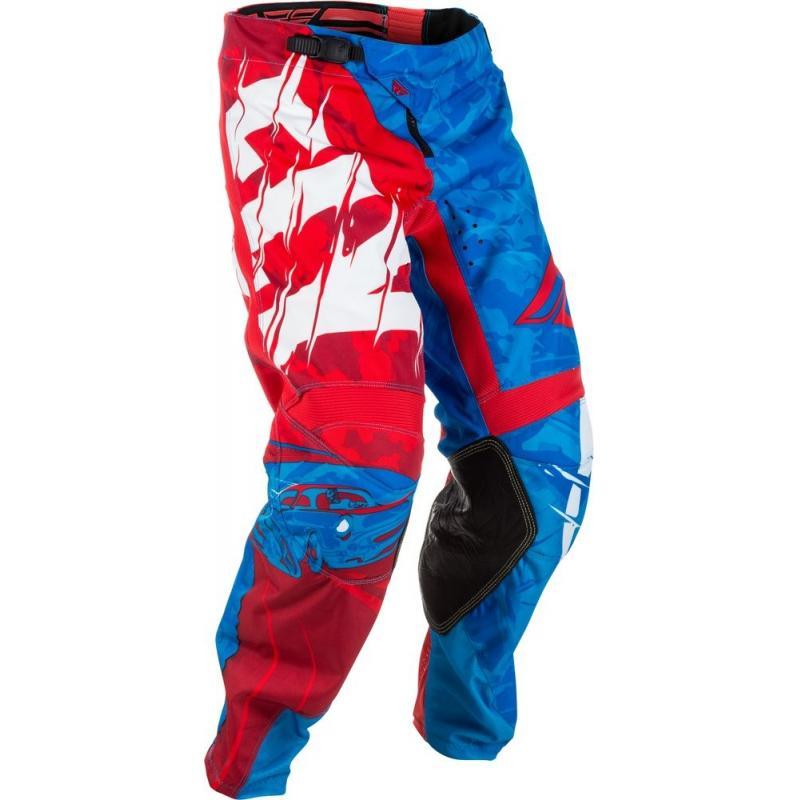 Pantalon cross enfant Fly Racing Kinetic Outlaw rouge/blanc/bleu
