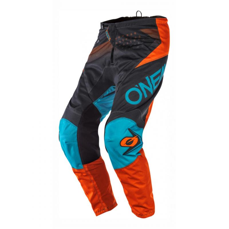 Pantalon cross O'Neal Element Factor gris/orange/bleu