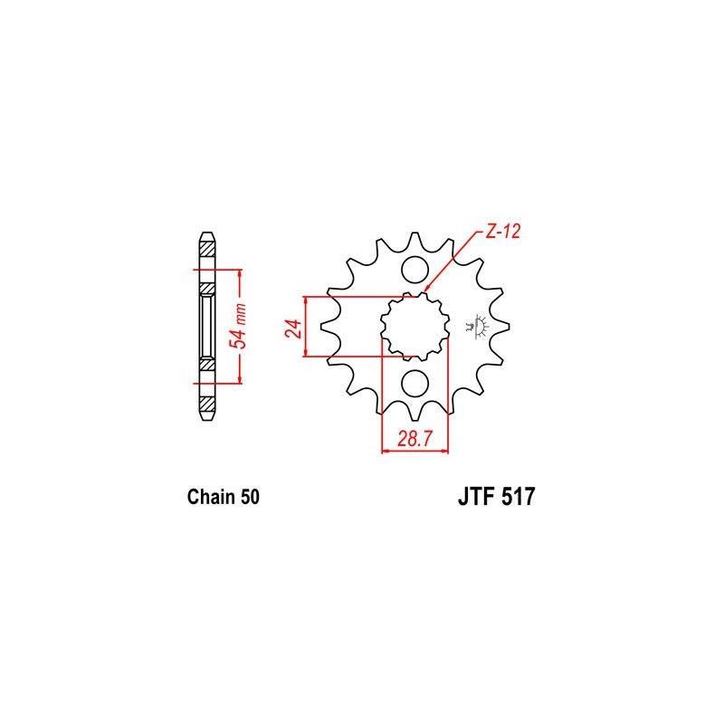 Pignon JT Sprockets Acier pas 630 18 dents - Pour Kawasaki ZX-12R 00-05