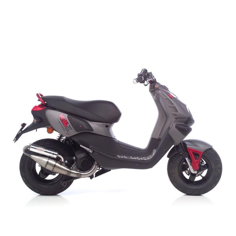 Pot d'échappement scooter Leovince Hand Made TT pour Peugeot Metal-X 50 03-17 - 1