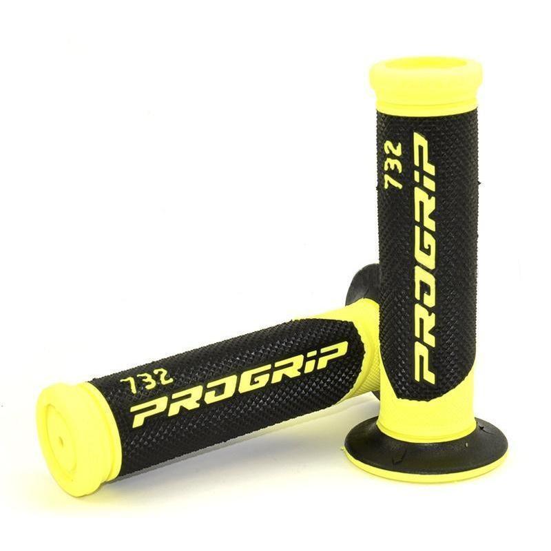 Revêtements de poignée Progrip 732 Open end noir/jaune fluo