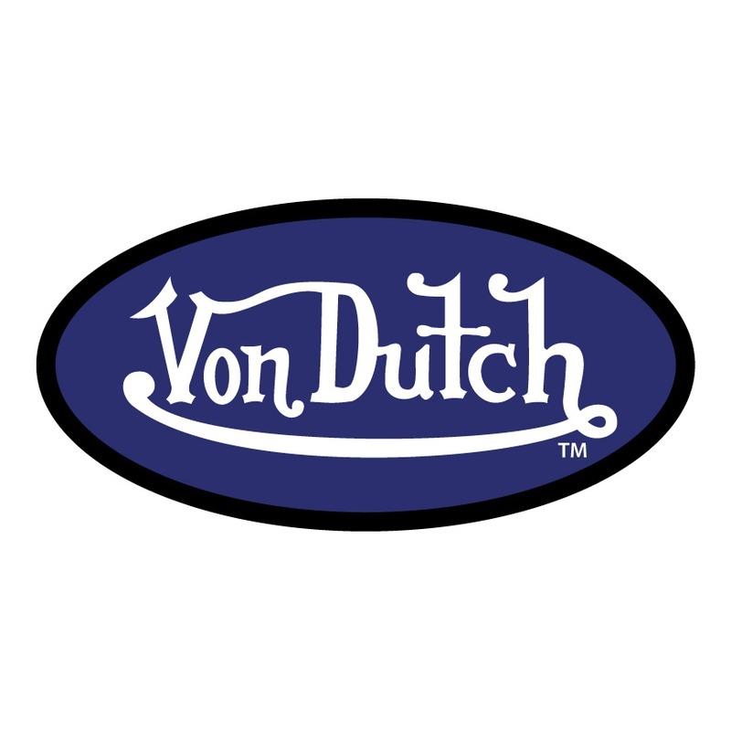 Sticker 9cm Von Dutch bleu noir