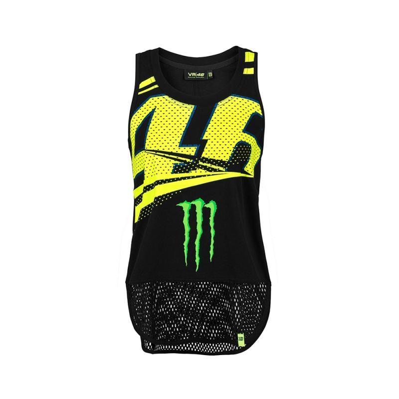 Tee shirt femme VR46 Valentino Rossi Monza Monster noir 2018