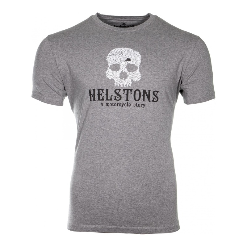 Tee-shirt Helstons Skull gris
