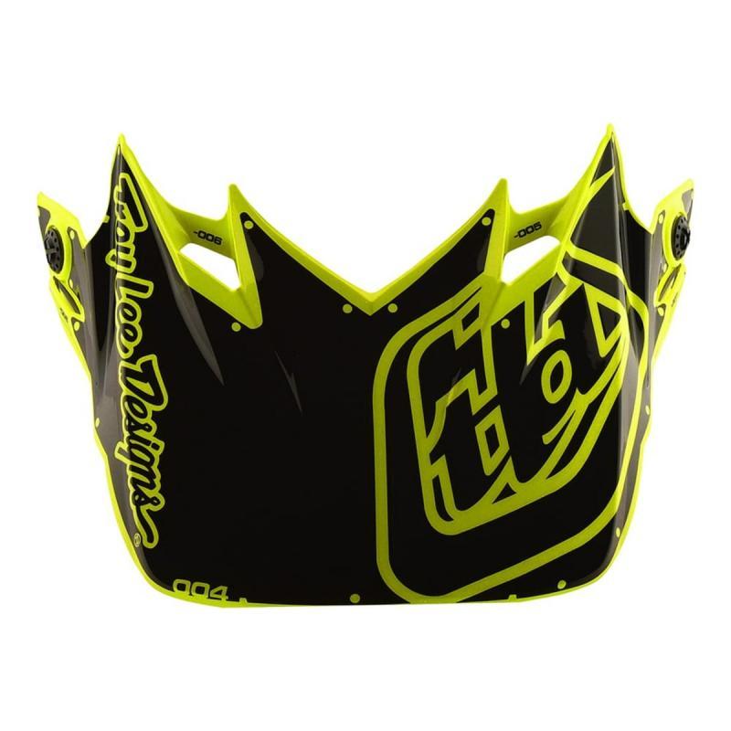Visière Troy Lee Designs pour casque SE4 Factory polyacrylite jaune