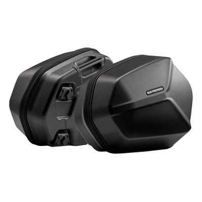 Valises latérale SW-Motech Aero ABS noires support EVO Suzuki DL1000 V-Strom 02-07
