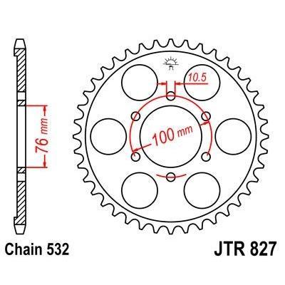 Couronne JT Sprockets Acier pas 520 48 dents - Pour Suzuki GSX-R 1100 89-92