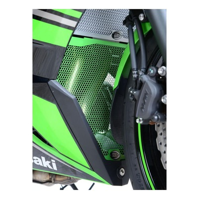 Grille de protection de collecteur R&G Racing verte Kawasaki Ninja 650 17-20