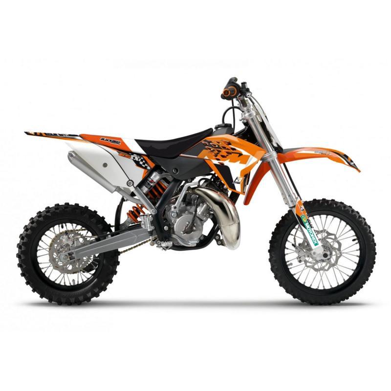 Kit déco + housse de selle Blackbird Dream Graphic 4 KTM 85 SX13-17 noir/orange