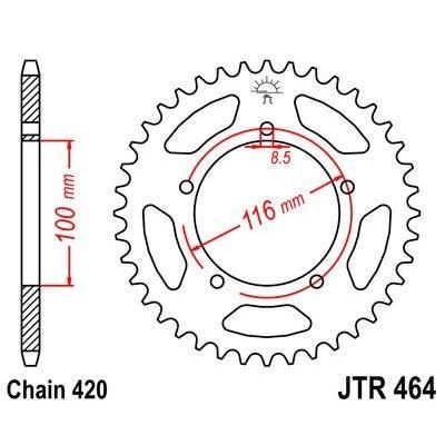 Couronne JT Sprockets Acier pas 420 50 dents - Pour Kawasaki KX 80 84-85