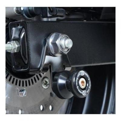 Diabolos de bras oscillant R&G Racing noir sur platine Kawasaki Z 900 17-18
