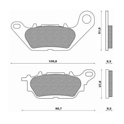 Plaquettes de frein Newfren Standard organique .FD.0437 BKS