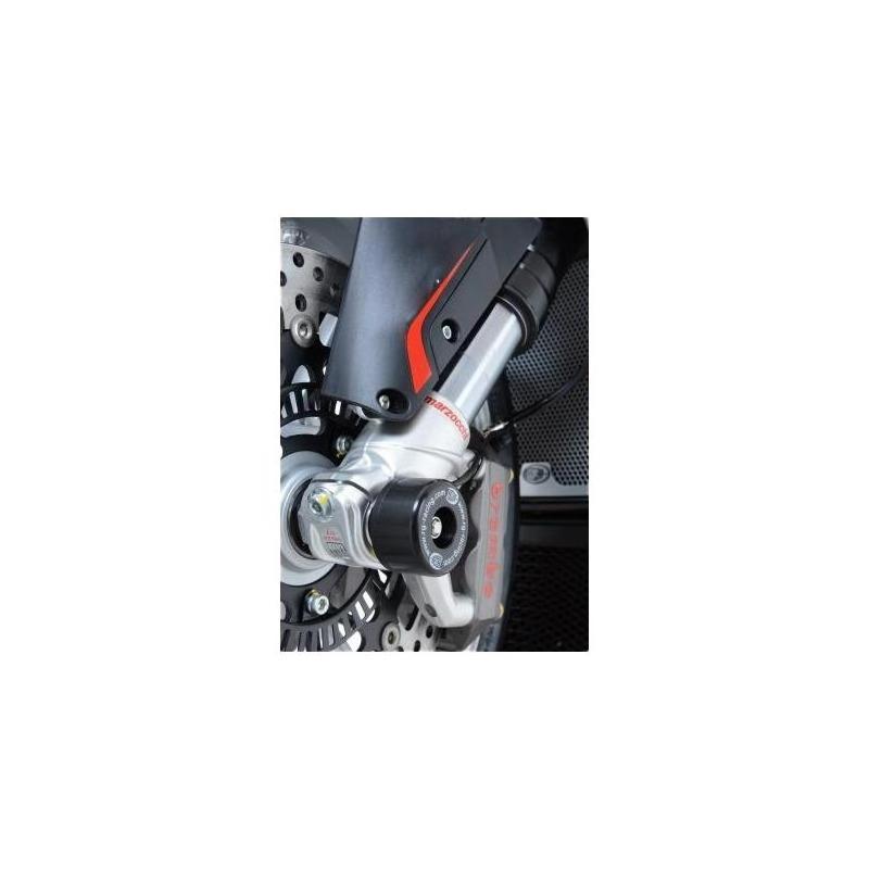 Tampons de protection de fourche R&G Racing noirs BMW HP2 1200 04-10