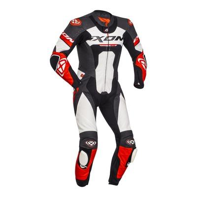 Combinaison cuir 1 piéce Ixon Jackal noir/blanc/rouge