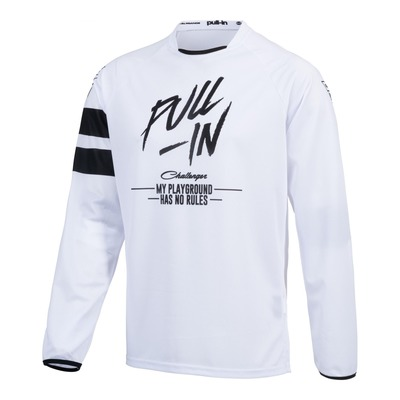 Maillot cross Pull-in Challenger Original Solid blanc