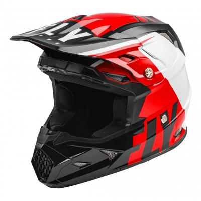 Casque cross Fly Racing Toxin Mips Transfer rouge/noir/blanc