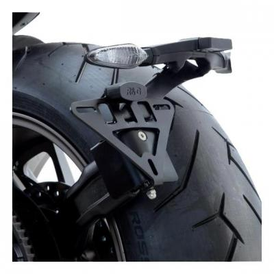 Support de plaque d'immatriculation R&G Racing noir Ducati Xdiavel 1200 16-18
