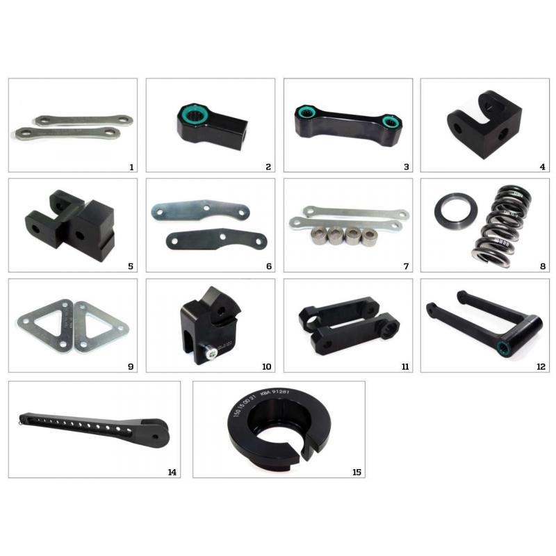 Kit rehausse de selle +30 mm Tecnium pour Yamaha MT-03 06-09