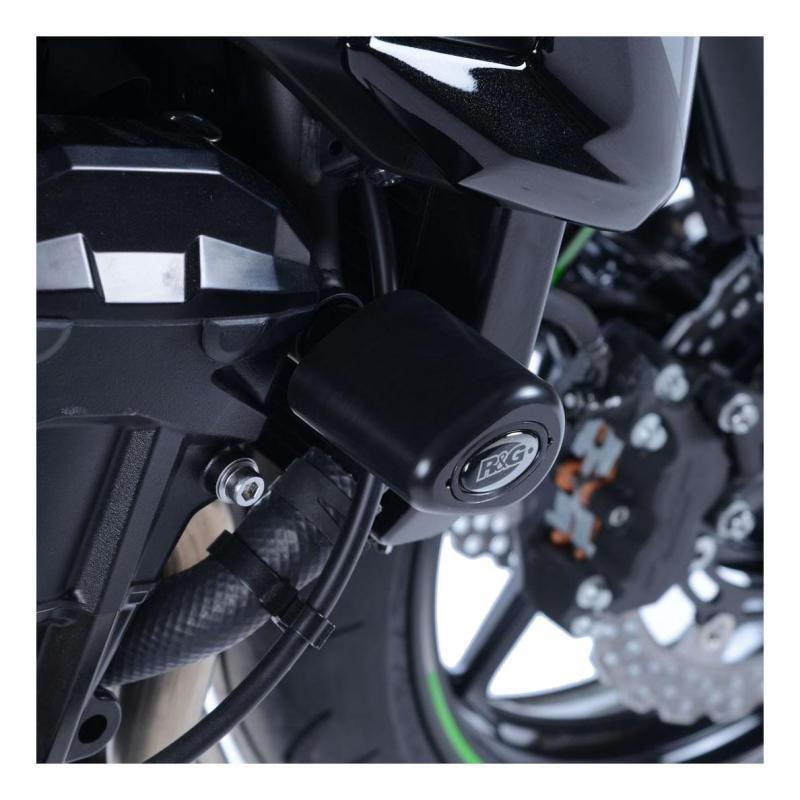 Tampons de protection R&G Racing Aero noir Kawasaki ER-6 N 09-15