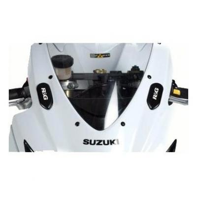 Caches orifices rétroviseurs R&G Racing noir Suzuki GSX-R 750 06-10
