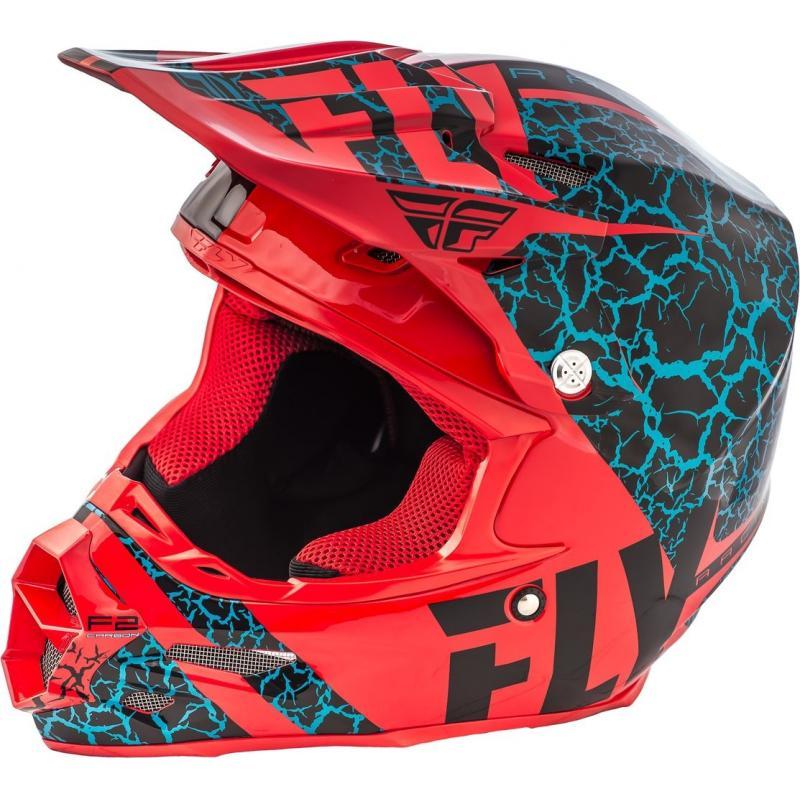 Casque cross Fly Racing F2 Carbon Fracture rouge/noir/bleu