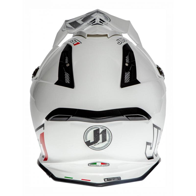 Casque cross Just1 J12 Solid blanc - 4
