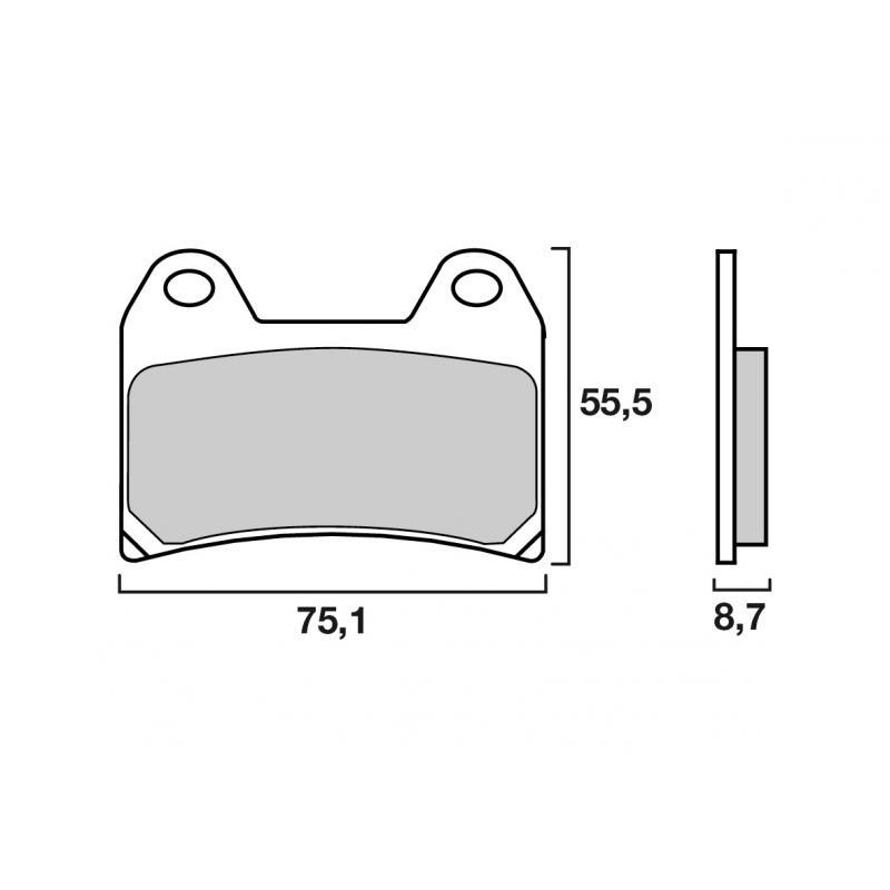 Plaquettes de frein Brembo carbone-céramique 07BB1907