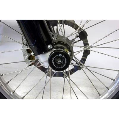 Tampons de protection de fourche R&G Racing noirs BMW G 450 X Enduro 08-11
