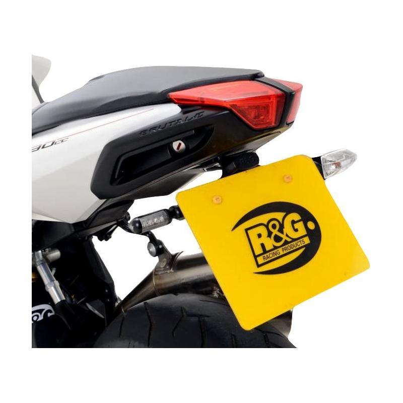 Support de plaque d'immatriculation R&G Racing noir MV Agusta Brutale 1090 RR 13-18