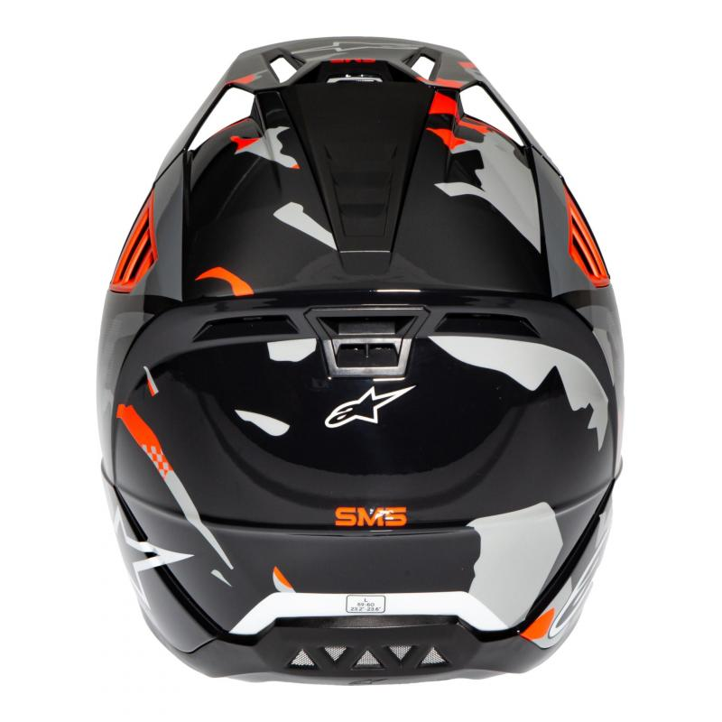 Casque cross Alpinestars S-M5 Rover anthracite/rouge fluo/gris camouflage brillant - 4